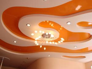 Натяжной потолок с несколькими уровнями