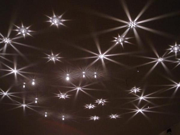 Звёздное небо в виде кристалов