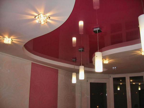 фото потолков в коридоре из гипсокартона