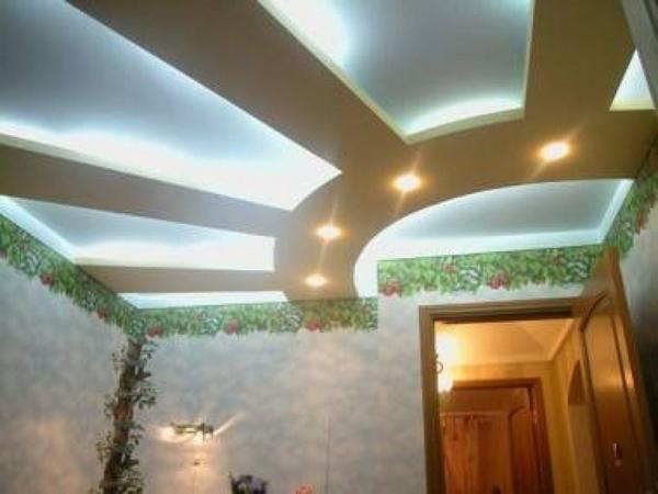 Детская комната - натяжной потолок в виде солнца
