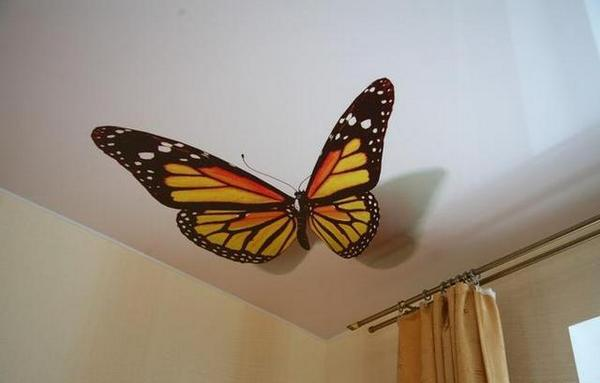 3d рисунок в виде бабочки