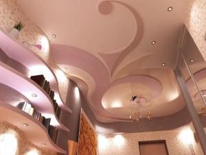 потолок гипсокартоновый многоуровневый