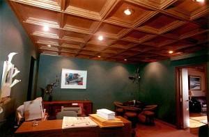 Потолок в сочетании с натяжным
