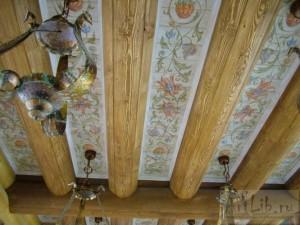Вариант отделки потолка в доме
