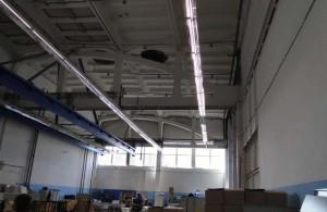 Люминесцентное освещение на производстве