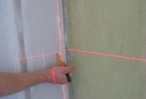 Определения уровня с помощью лазера