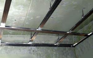 Каркас из направляющих для потолка