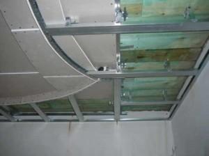 Конструкция гипсокартонового потолка