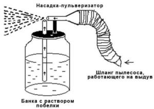 Пульверизатор и пылесос