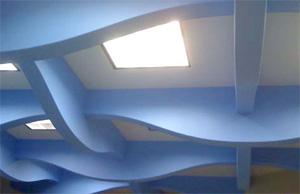 Нетрадиционный вариант потолка