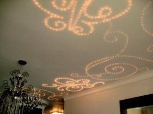 Потолок панельный с освещением