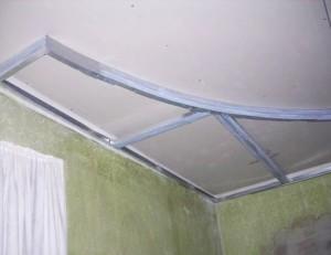 Многоуровневый потолок - начало работ