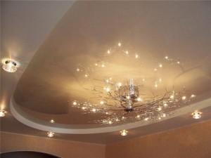 Потолок в гостинной