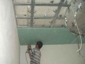 Монтаж потолка ручным способом