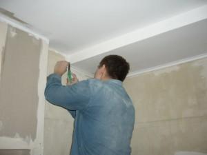 Все работы по отделке потолка завершены