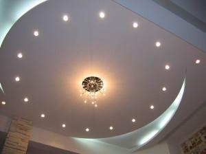 Гипсокартоновая отделка потолка