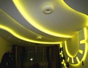 Динамическое освещение потолка и стены