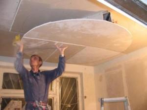 Подшивные потолки из гипсокартонных панелей