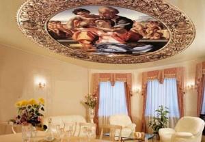Картина на потолке