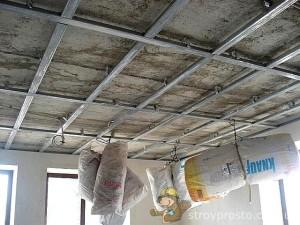 Сборке каркаса потолка