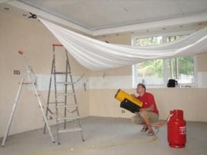 Натяжные потолки - монтаж