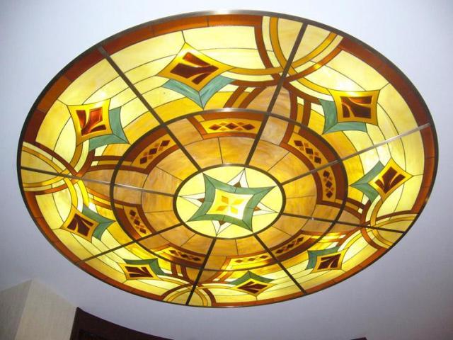 Витражное стекло для потолка