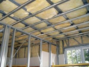 Стандартный каркас для стеклянных потолков