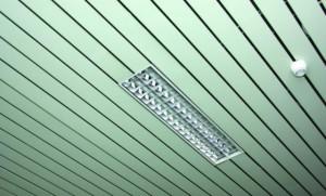 Навесной потолок со встроеной лампой