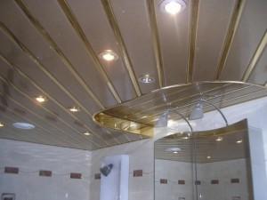 Монтируем потолок в ванной своими руками