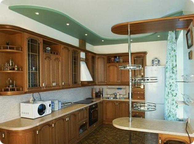 Подвесные потолки в кухне своими руками