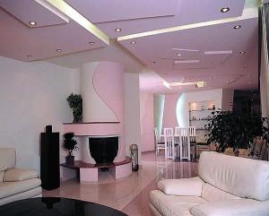 Гипсокартоновый многоуровневый потолок
