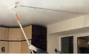 Грунтование потолка под покраску