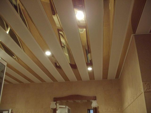 Как делать реечный потолок 64