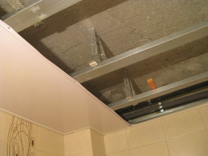 Монтаж потолков на подвесах
