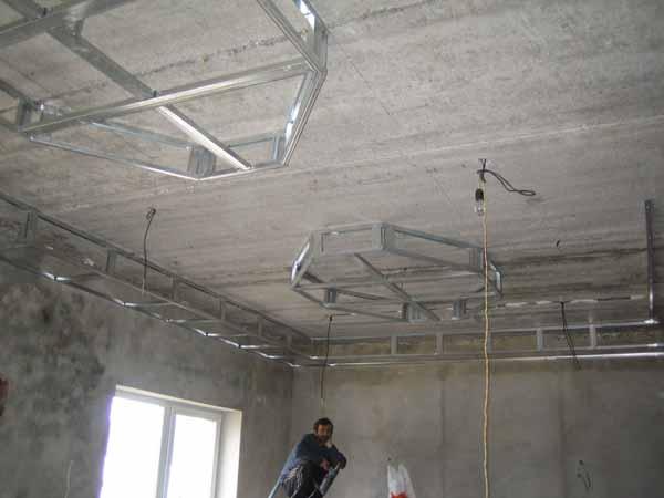 Конструкции потолков из гипсокартона фото