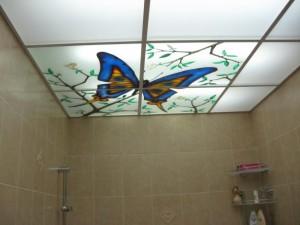 Подвесные потолки в ванную