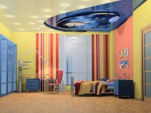 Потолок в комнате для детей