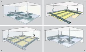 Монтаж на подвесную конструкцию