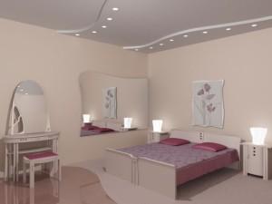 Дизайн потолков в спальне.