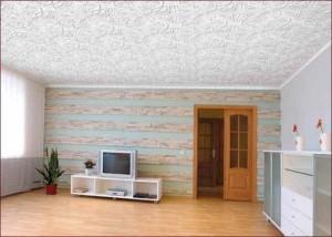 Дизайн потолка спальни — плитка из пенопласта
