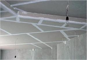 Гипсокартонные потолки — монтаж и используемые материалы
