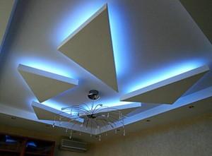 Потолок с красивой подсветкой