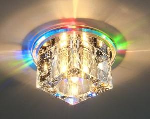 Встроенные светильники для натяжного потолка — виды, монтаж, требования к приборам