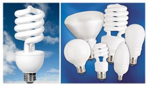 Ассортимент энергосберегающих ламп