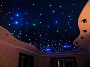 Потолок звездное небо - достоинства и способы реализации технологии