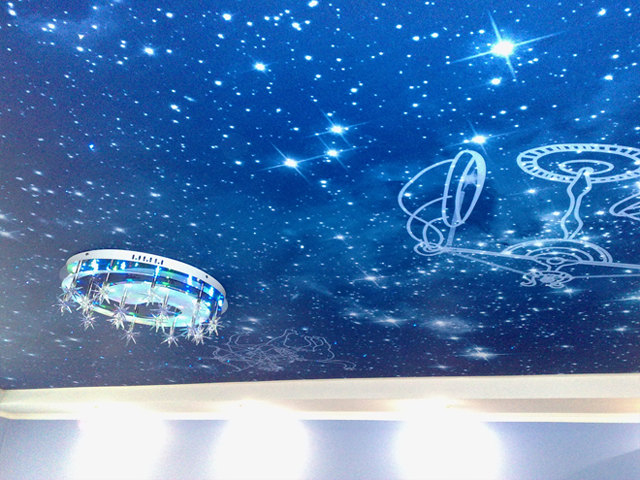 Как сделать потолок звездное небо из краски