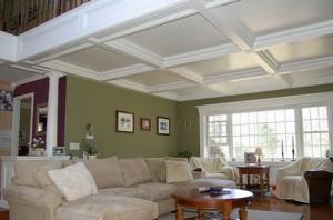 Деревянные кессонные потолки — особенности и преимущества конструкции