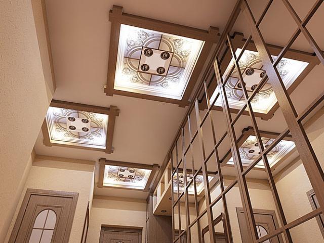потолки в прихожей фото дизайн