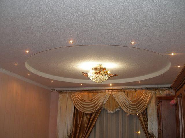 Дизайн двухуровневых потолков фото
