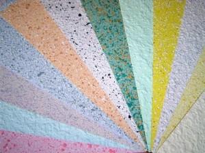 Жидких обои из текстильных волокон и целлюлозы